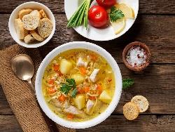 Обикновена бяла пилешка супа с фиде и ориз без застройка - снимка на рецептата
